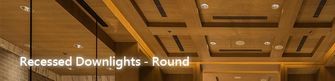 recessed downlights-round